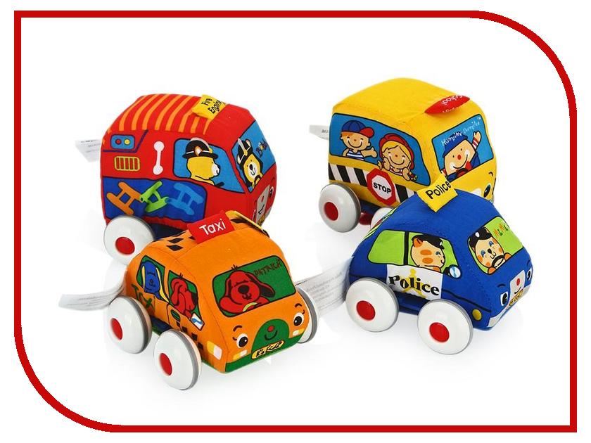 Игрушка Ks Kids Машинки мягкие с инерционным механизмом 4шт KA459