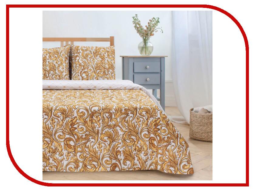 Постельное белье Этель Вензель золотой Комплект 2 спальный Поплин 2588659 подушка золотой вензель песок софт 35х60 ti