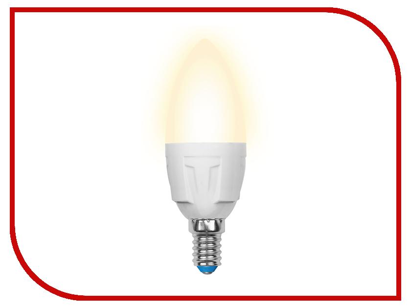 Лампочка Uniel LED-C37-7W/WW/E14/FR PLP01WH лампочка uniel il f25 cl 15 e14 01854