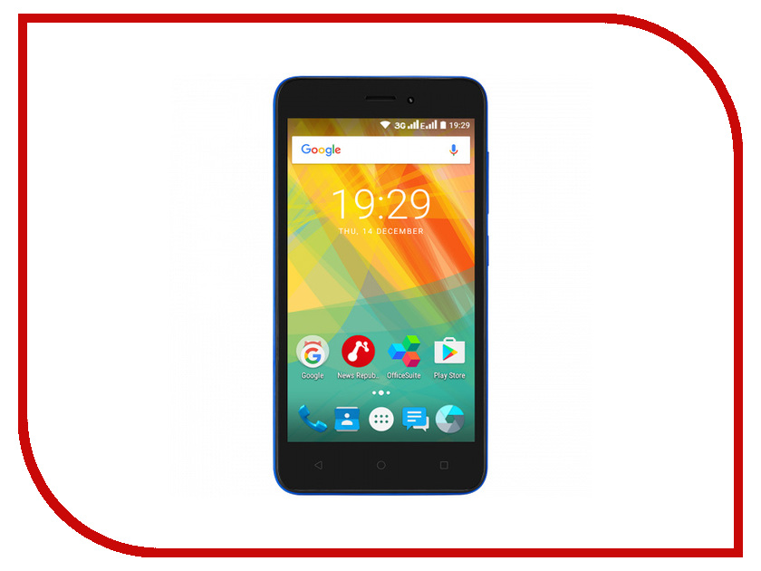 Сотовый телефон Prestigio 3510 Wize G3 5 Blue thl w100s android 4 2 quad core wcdma bar phone w 4 5 capacitive screen wi fi and gps black
