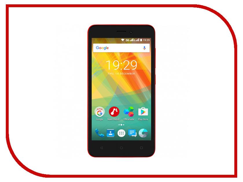 Сотовый телефон Prestigio 3510 Wize G3 5 Red PSP3510DUOWINE сотовый телефон digma linx a177 2g