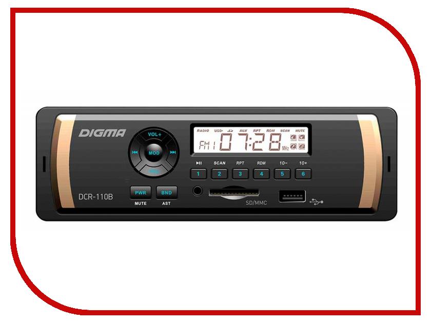 Автомагнитола Digma DCR-110B видеорегистратор digma freedrive