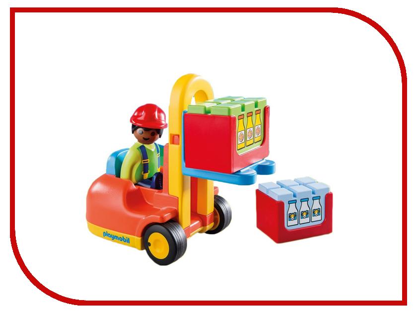 Конструктор Playmobil 1.2.3. Вилочный погрузчик 6959pm конструктор ausini строители  мини вилочный погрузчик 32дет