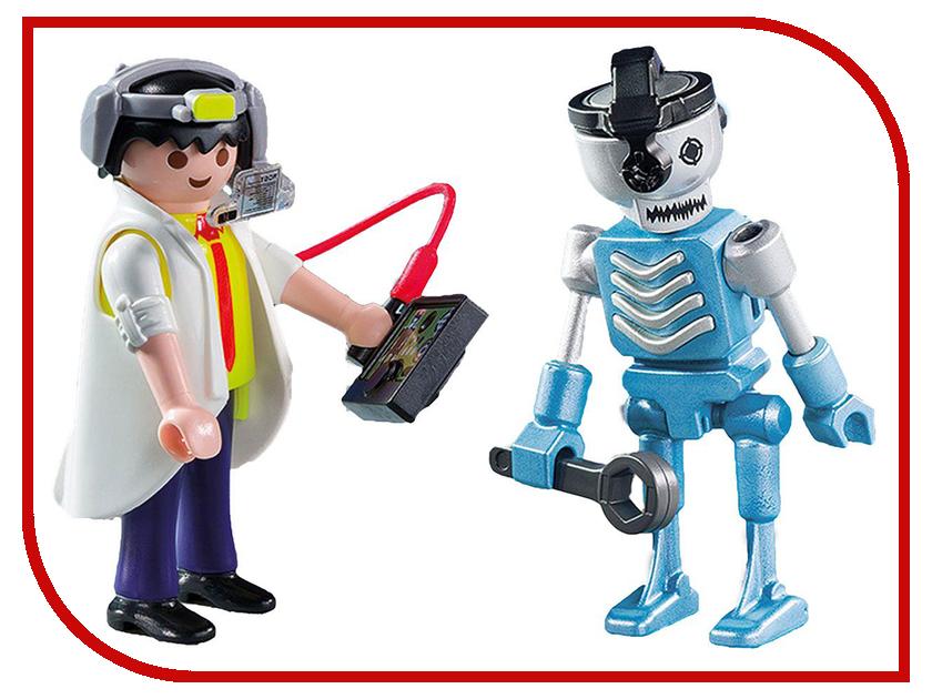 Конструктор Playmobil Ученый с роботом 6844pm playmobil® playmobil 5289 секретный агент мега робот с бластером
