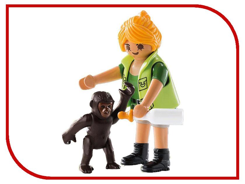 Конструктор Playmobil Смотритель зоопарка с детенышем гориллы 9074pm стоимость