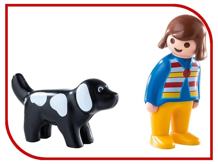 Конструктор Playmobil 1.2.3. Женщина с собакой 6977pm playmobil спасатели с носилками