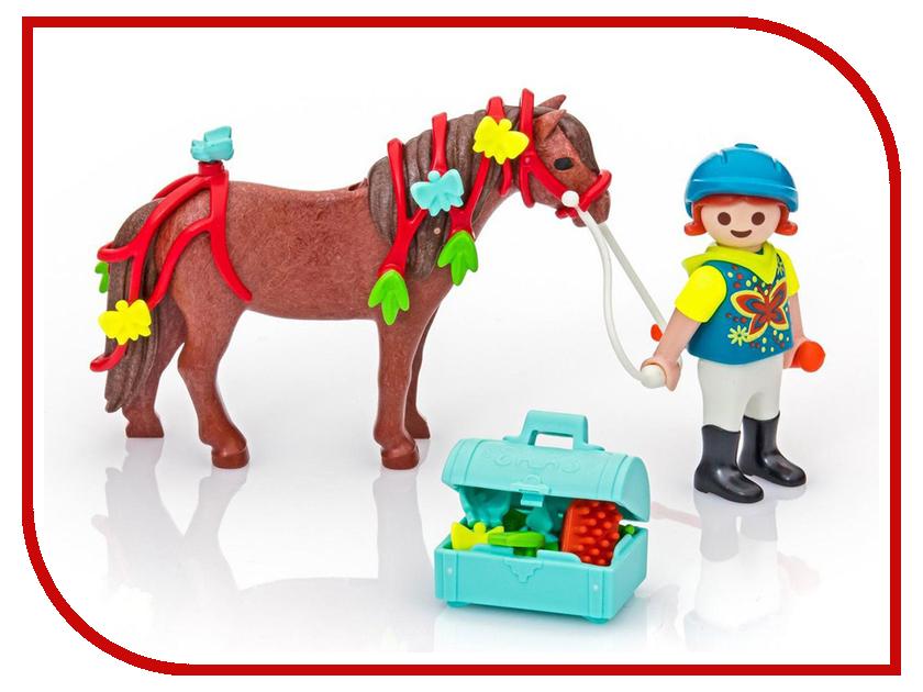Конструктор Playmobil Ферма Пони Конюх с Пони Бабочка 6971pm playmobil® playmobil 5289 секретный агент мега робот с бластером