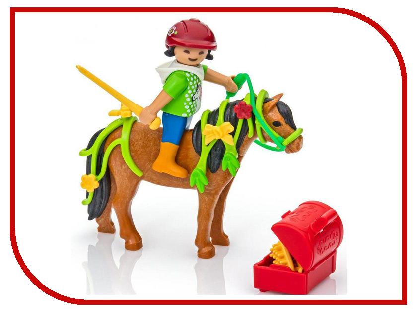 Конструктор Playmobil Ферма Пони Конюх с Пони Блум 6968pm игровые наборы playmobil ферма мобильный ленточный конвейер