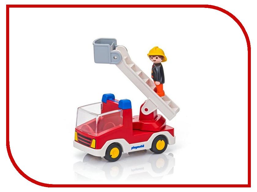 Конструктор Playmobil 1.2.3. Пожарная машина с лестницей 6967pm playmobil спасатели с носилками