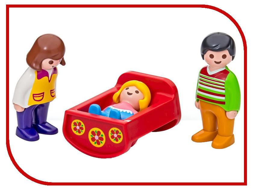 Конструктор Playmobil 1.2.3 Родители с люлькой 6966pm playmobil® playmobil 5289 секретный агент мега робот с бластером