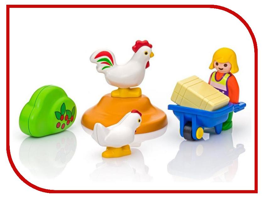 Конструктор Playmobil 1.2.3. Жена фермера с курочками 6965pm playmobil спасатели с носилками
