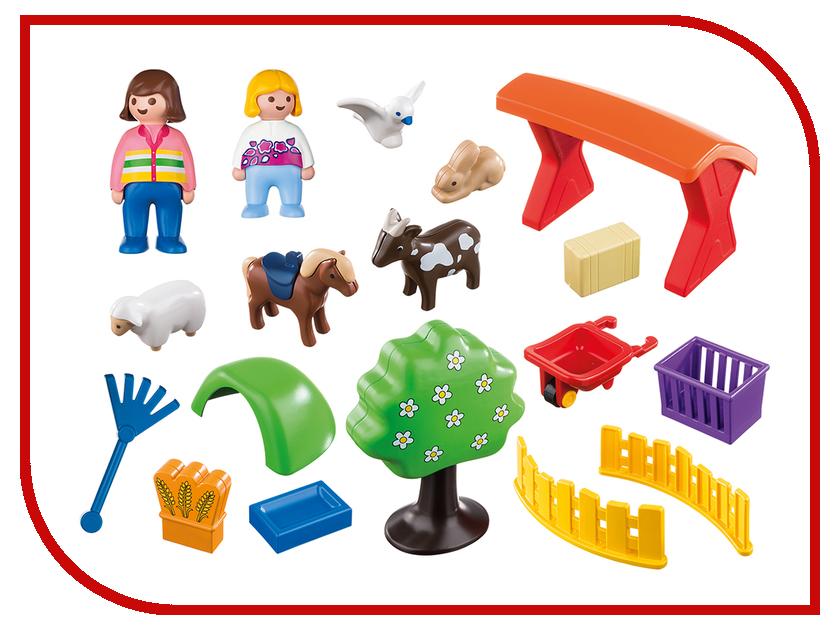 Конструктор Playmobil 1.2.3. Контактный зоопарк 6963pm playmobil® зоопарк семья зебр playmobil