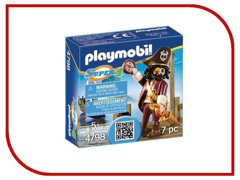 Конструктор Playmobil Супер 4 Акулья борода 4798pm