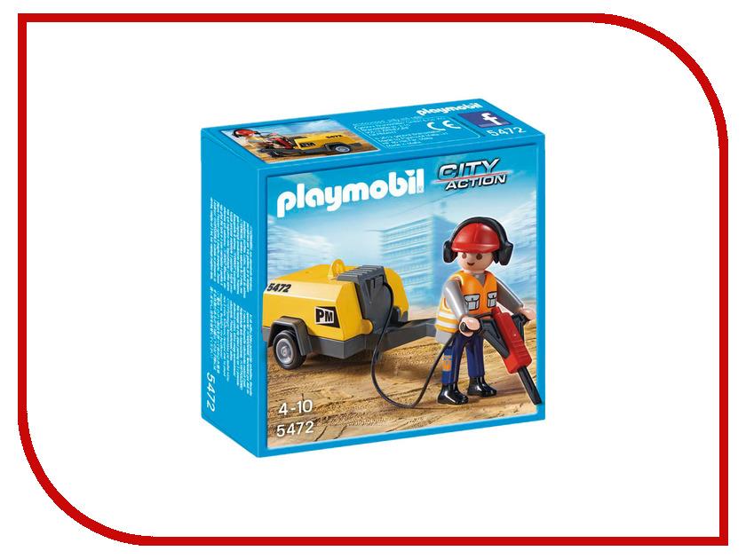 Конструктор Playmobil Стройка Строитель с отбойным молотком 5472pm playmobil® playmobil 5289 секретный агент мега робот с бластером
