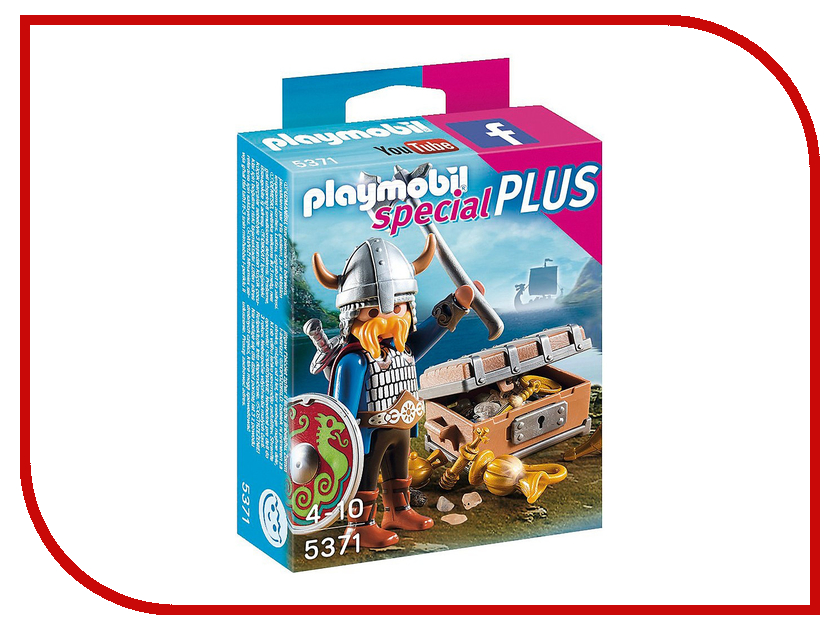 Конструктор Playmobil Экстра-набор Викинг с сокровищами 5371pm