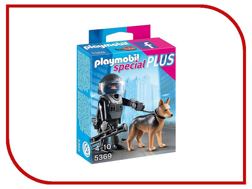 Конструктор Playmobil Экстра-набор Полицейский спецназовец с собакой 5369pm