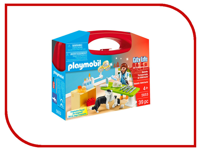 Конструктор Playmobil Возьми с собой Посещение ветеринарной клиники 5653pm playmobil® возьми с собой пляжное бунгало playmobil