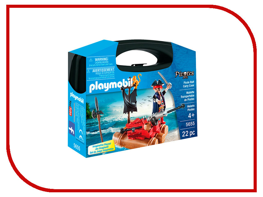 Конструктор Playmobil Возьми с собой Пиратский плот 5655pm