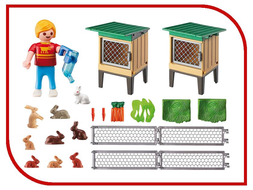 Конструктор Playmobil Ферма Вольер и клетки с кроликами 6140pm