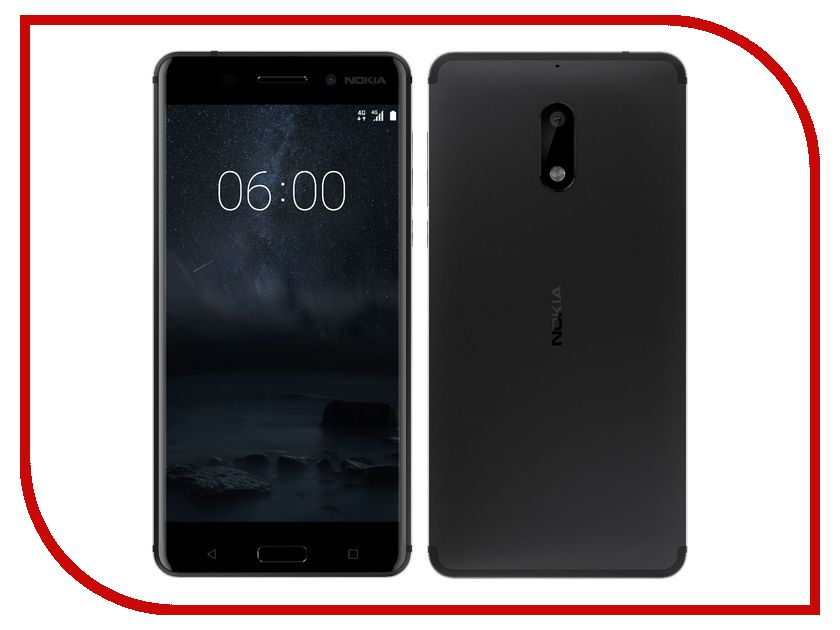 Сотовый телефон Nokia 6 32GB Black телефон nokia 1280 цена