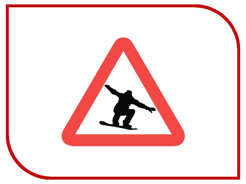 Наклейка на авто Sport-Sticker Сноуборд - треугольная