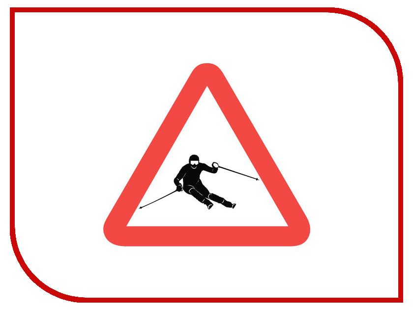 Наклейка на авто Sport-Sticker Лыжи - треугольная
