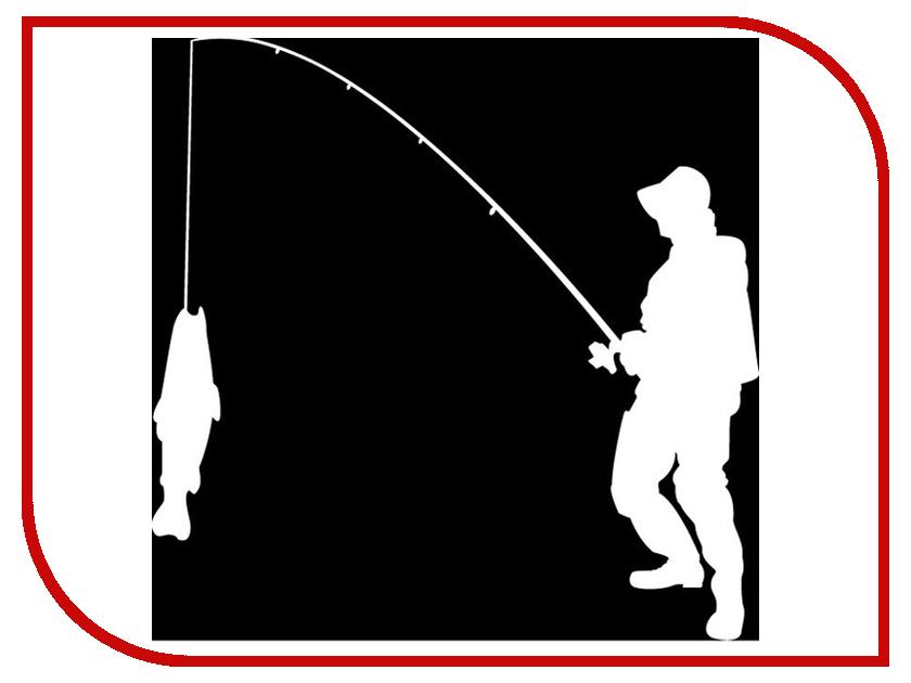 Наклейка на авто Sport-Sticker Рыбалка №01 White