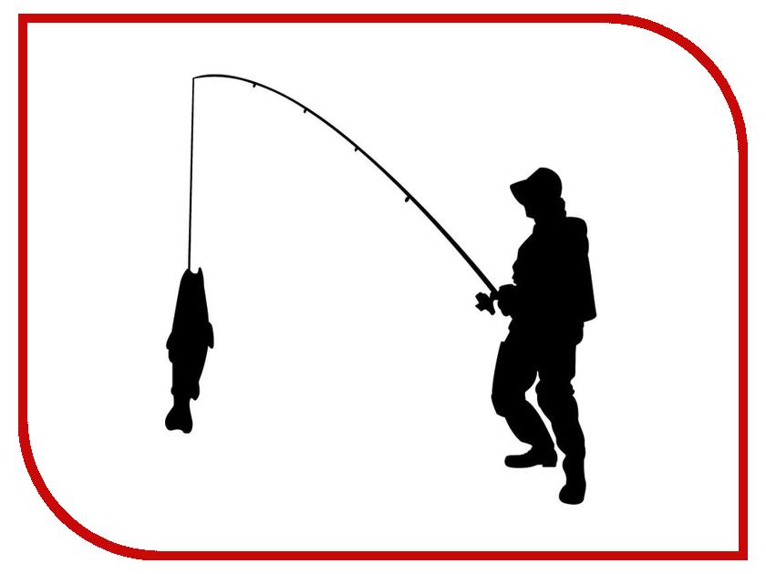 Наклейка на авто Sport-Sticker Рыбалка №01 Black