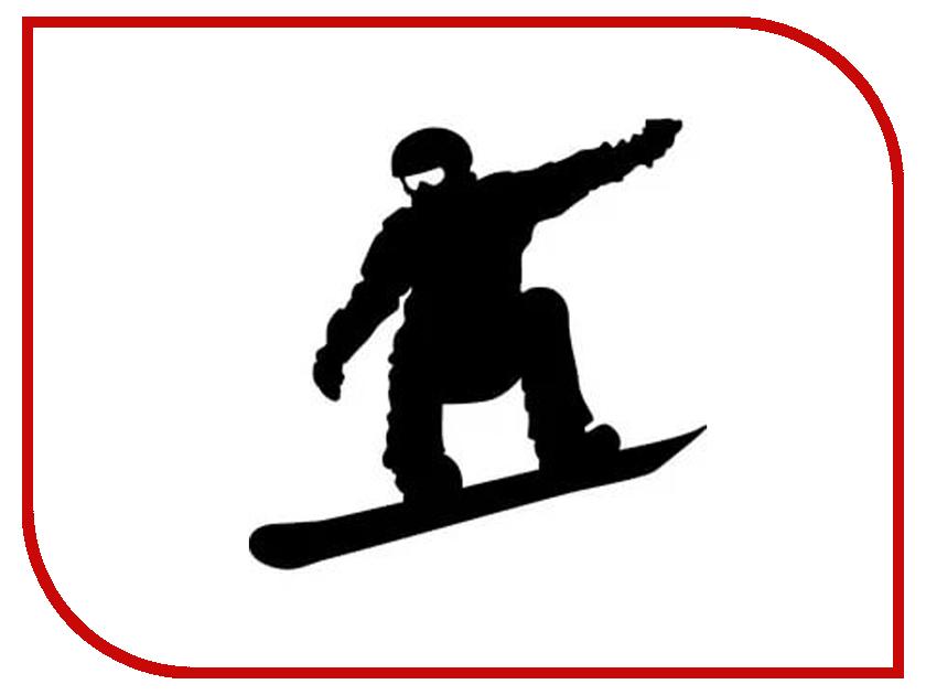 Наклейка на авто Sport-Sticker Сноуборд №01 Black
