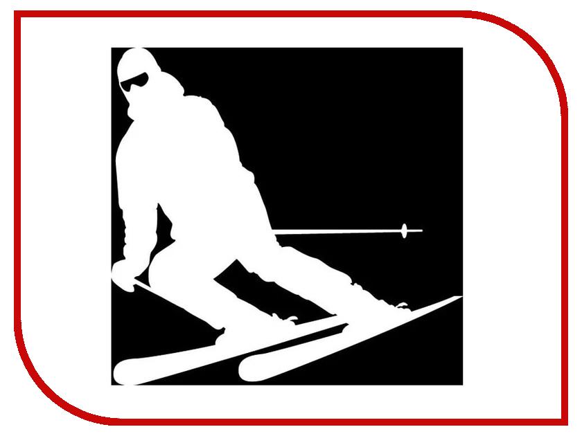 Наклейка на авто Sport-Sticker Лыжи №01 White
