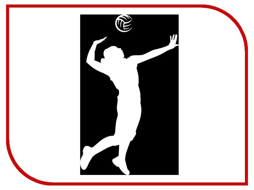 Наклейка на авто Sport-Sticker Волейбол №01 White