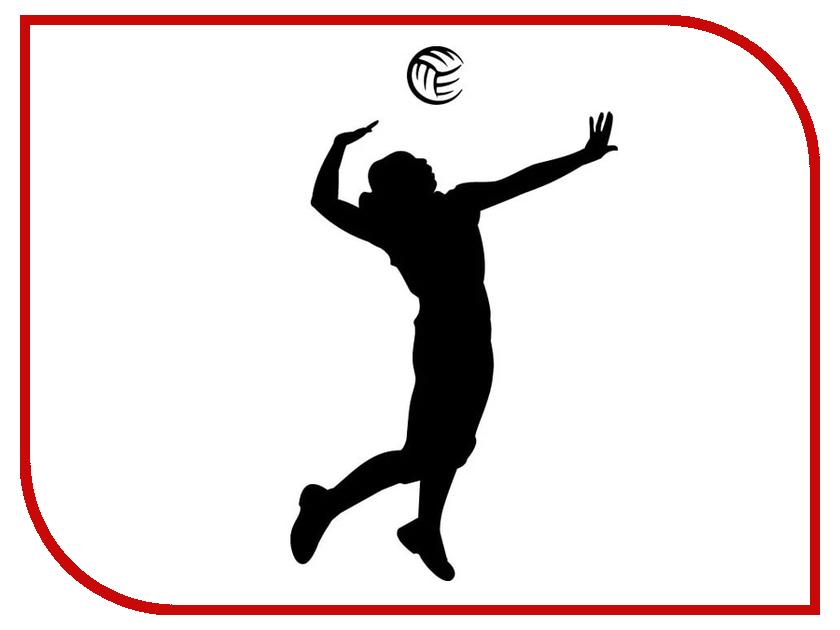 Наклейка на авто Sport-Sticker Волейбол №01 Black