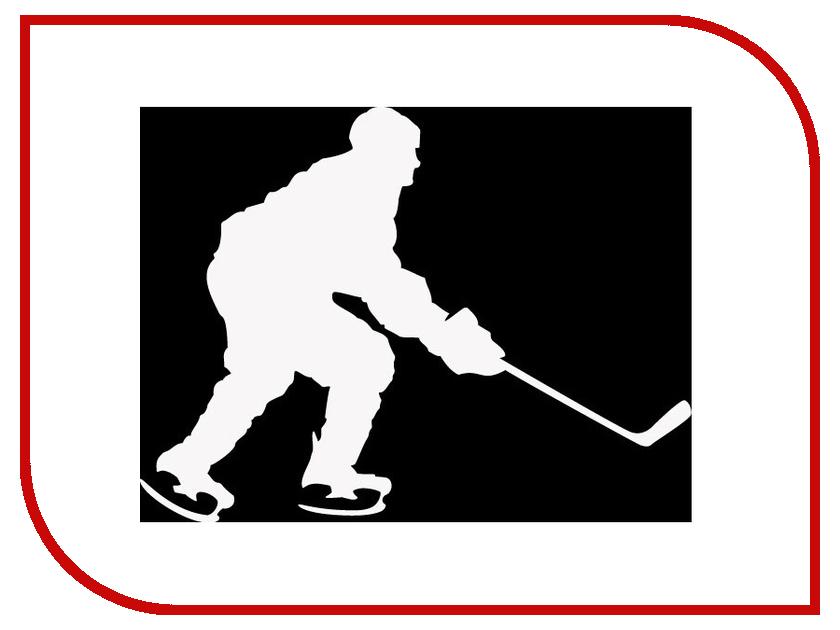 Наклейка на авто Sport-Sticker Хоккей №10 White