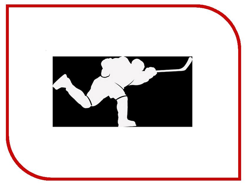 Наклейка на авто Sport-Sticker Хоккей №09 White