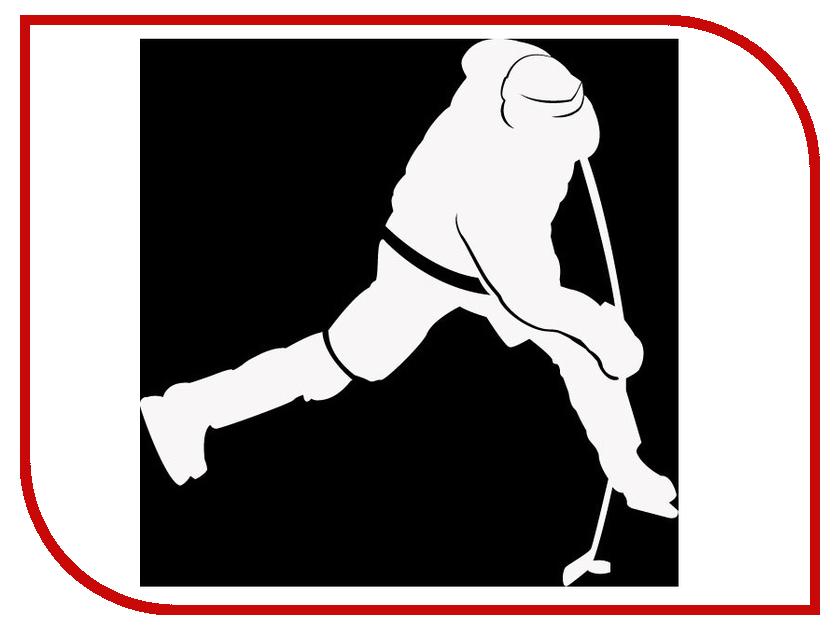 Наклейка на авто Sport-Sticker Хоккей №08 White