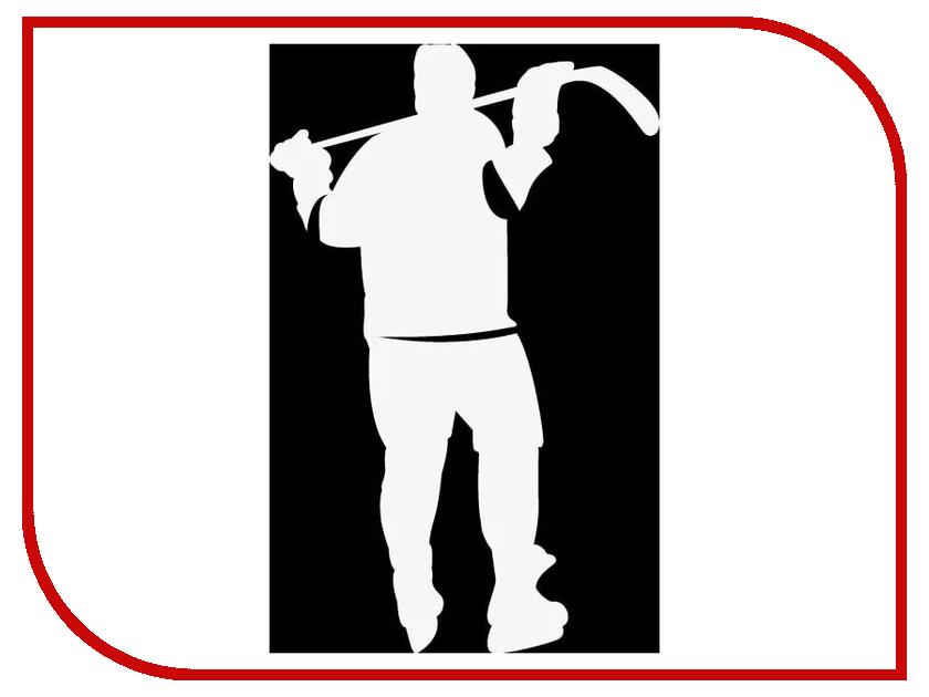 Наклейка на авто Sport-Sticker Хоккей №07 White