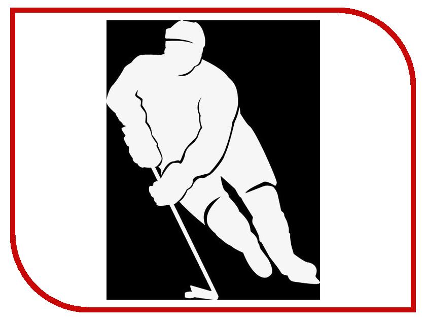 Наклейка на авто Sport-Sticker Хоккей №06 White