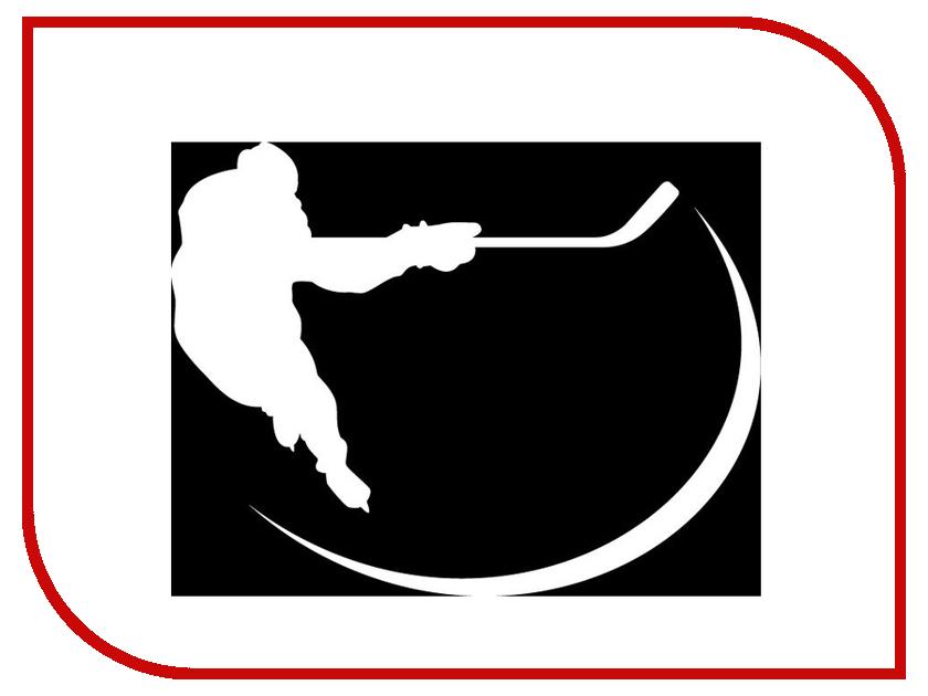 Наклейка на авто Sport-Sticker Хоккей №04 White