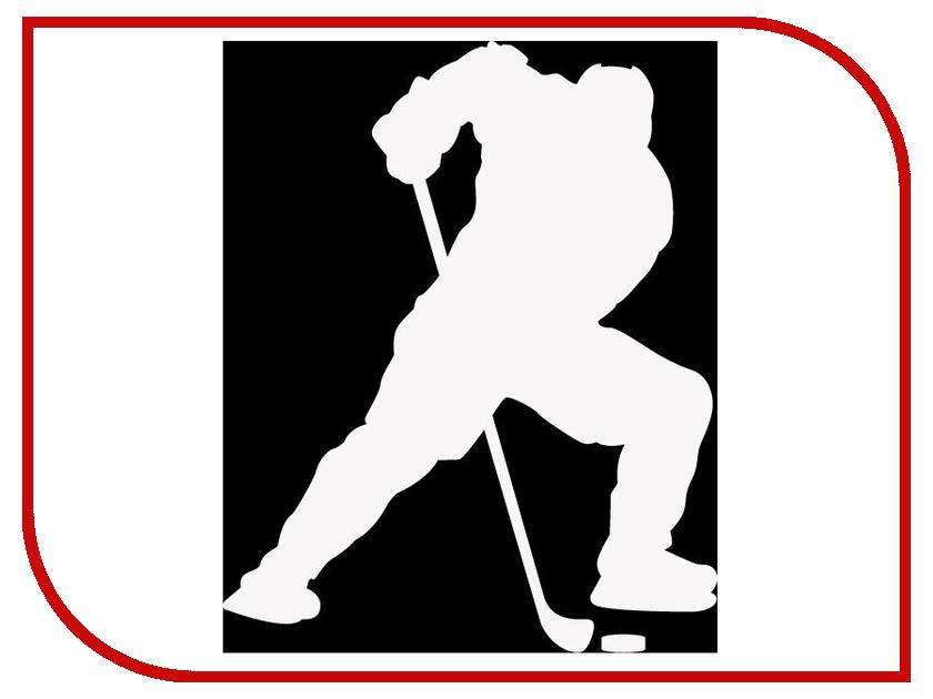 Наклейка на авто Sport-Sticker Хоккей №03 White