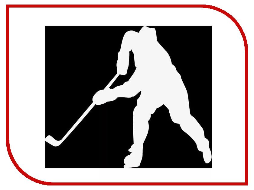 Наклейка на авто Sport-Sticker Хоккей №02 White