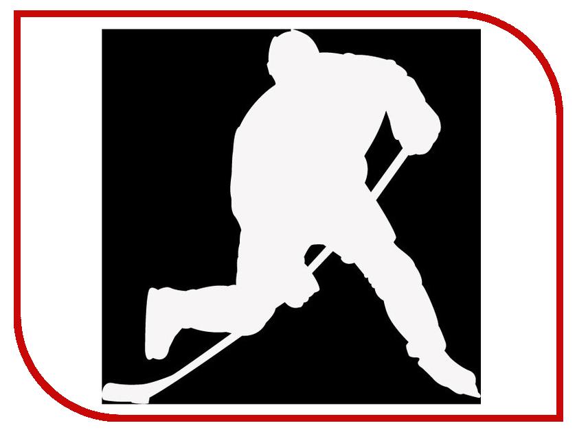 Наклейка на авто Sport-Sticker Хоккей №01 White