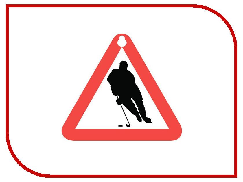 Здесь можно купить Хоккей  Наклейка на авто Sport-Sticker Хоккей - треугольная табличка на присоске