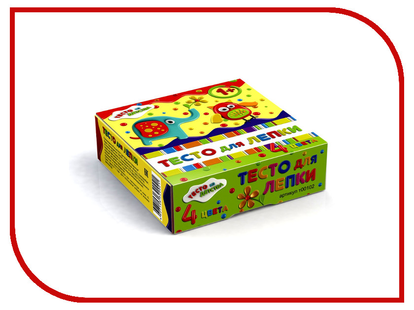 набор для детского творчества тесто для лепки тесто из детства 3цв 135гр т00105 Набор для лепки Тесто из детства т00102