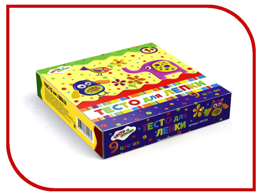 набор для детского творчества тесто для лепки тесто из детства 3цв 135гр т00105 Набор для лепки Тесто из детства т00104