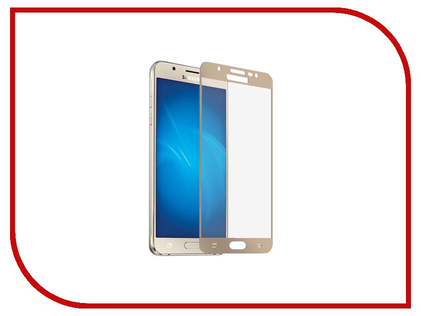 Аксессуар Защитное стекло Samsung Galaxy J7 2017 Onext с рамкой Gold 41444