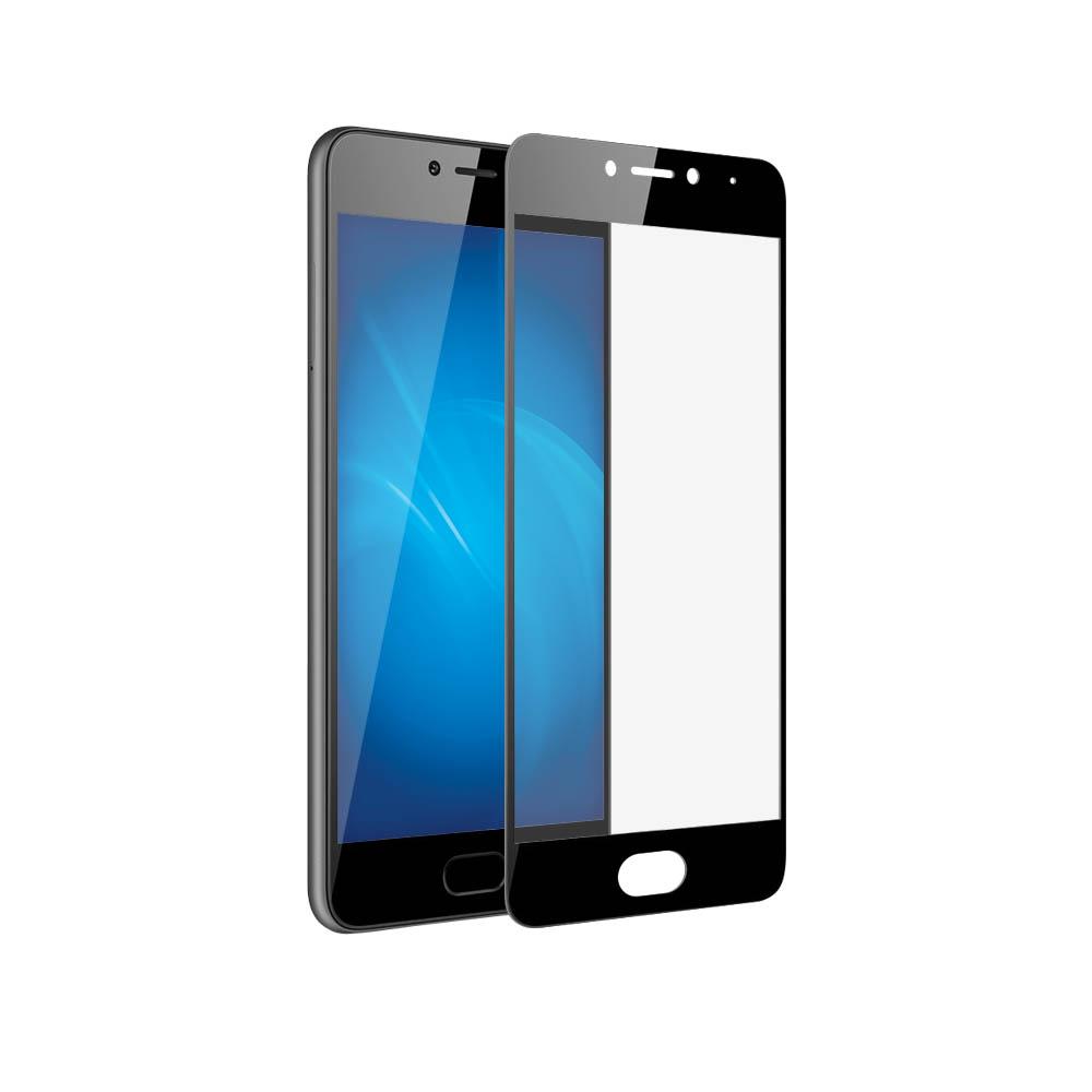 Аксессуар Защитное стекло для Meizu M5c Onext с рамкой Black 41455