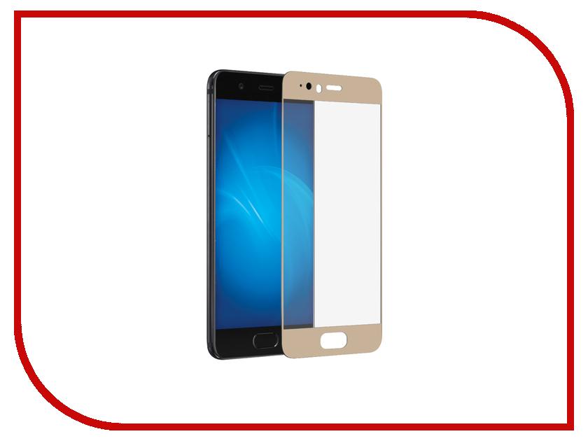 Аксессуар Защитное стекло Huawei P10 Plus Onext с рамкой Gold 41434 защитное стекло onext для apple iphone 7 plus глянцевое