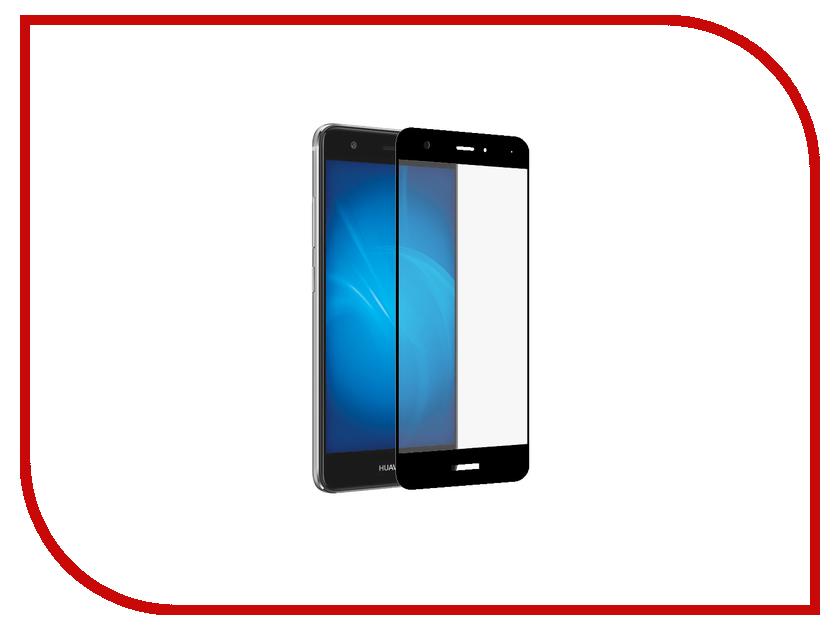 Аксессуар Защитное стекло Huawei Nova Lite 2017 Onext с рамкой Black 41421 аксессуар защитное стекло huawei p8 lite 2017 onext eco 43145