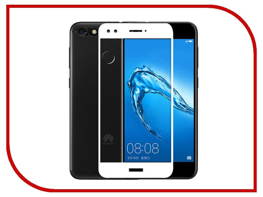 Аксессуар Защитное стекло Huawei Nova Lite 2017 Onext с рамкой White 41422 аксессуар защитное стекло huawei p8 lite 2017 onext eco 43145