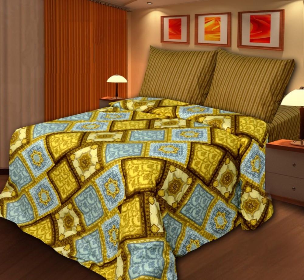 Постельное белье Art Cotton Старое золото Комплект Евро Бязь постельное белье этель горные вершины комплект евро бязь 2968344